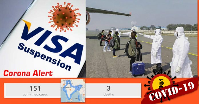 India issues travel restrictions to control the spread of the coronavirus